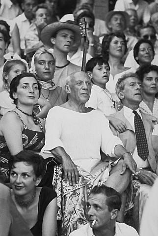 with Jacqueline Roque, Jean Cocteau, Paloma, Maya and Claude