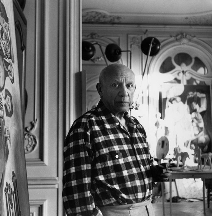 pablo picasso photos la californie cannes 1955 year. Black Bedroom Furniture Sets. Home Design Ideas
