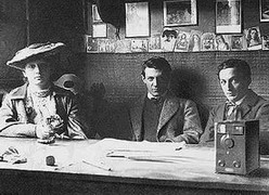 Pablo with Fernande and Ramon Reventos, Barcelona
