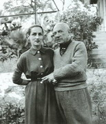 with Francoise Gilot, 1950