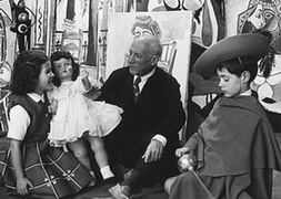 With Paloma and Claude, 1955