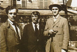 Amedeo Modigliani, Pablo Picasso and Andre Salmon, 1916