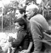 with Francoise Gillot and Claude, 1952