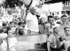 Picasso in Vallauris, 1955