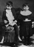 Pablo with his sister Lola,