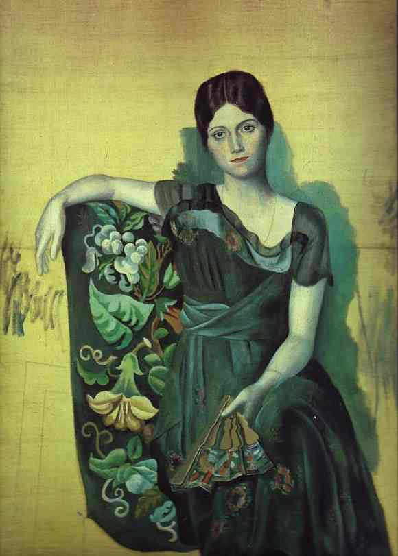 Pablo Picasso. Portrait of Olga in the Armchair, 1917