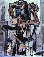 Pablo Picasso. Naked woman sitting II, 1959