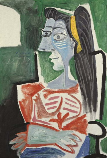 Pablo Picasso. Woman in a chair, arms crossed (Bust), 1963