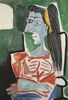 Woman in a chair, arms crossed (Bust)