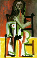 Nude sitting in a chair II