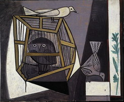 Pablo Picasso. Cage with owl, 1947