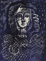 Pablo Picasso. Bust background star, 1949