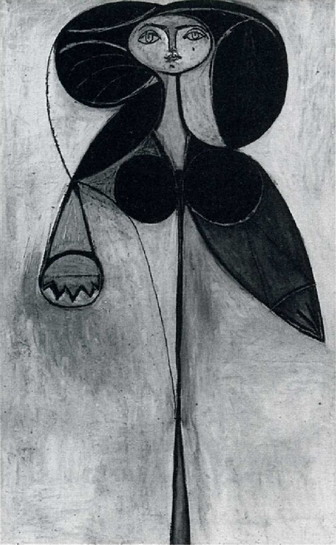 pablo picasso woman flower fran oise gilot 1946. Black Bedroom Furniture Sets. Home Design Ideas
