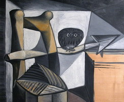 Pablo Picasso. Owl in an interior, 1946