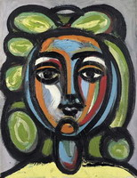 Pablo Picasso. Head of a Woman with green earrings, 1946