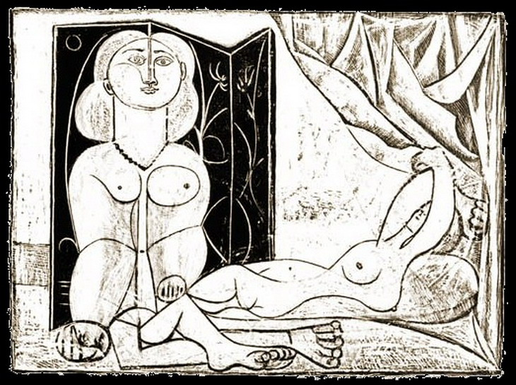 Pablo Picasso. The two naked women XV, 1946