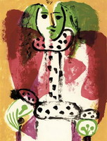Pablo Picasso. Woman in a chair I