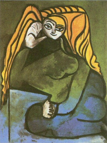 Pablo Picasso. Portrait of Madame Helene Parmelin, 1952