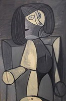 Woman in gray