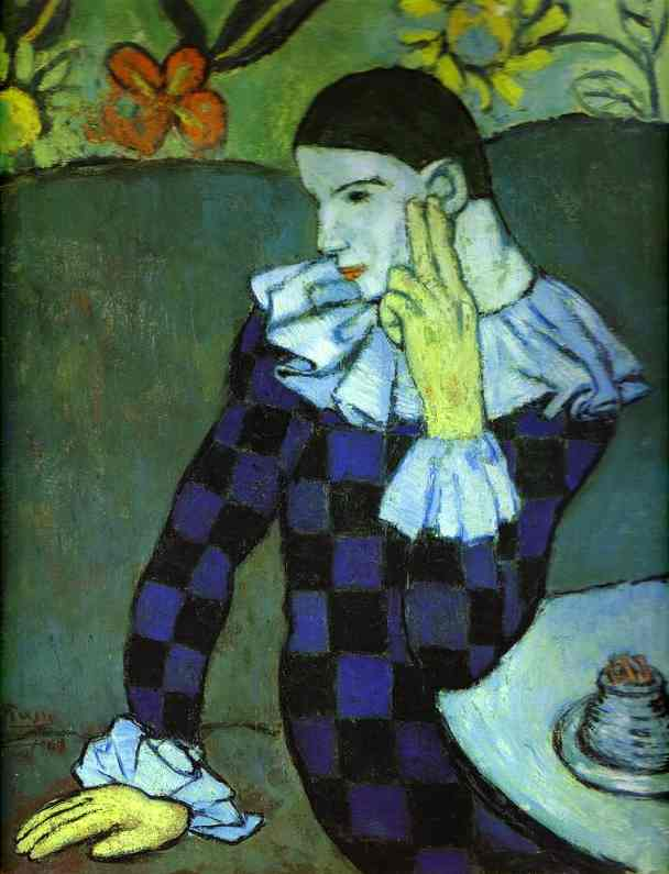 "Pablo Picasso - ""Leaning Harlequin"", 1901"