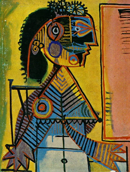 Pablo Picasso - Portrait of woman in green collar (Marie-Therese ...