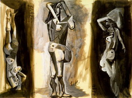L`aubade (Three naked women) [study]