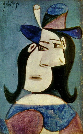 Pablo Picasso. Bust of Woman with Hat 2, 1939