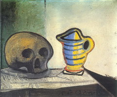 Pablo Picasso. Still Life with Skull and pot, 1943