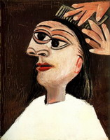 Pablo Picasso. The hairstyle, 1938