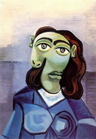 Portrait of Dora Maar with blue eyes