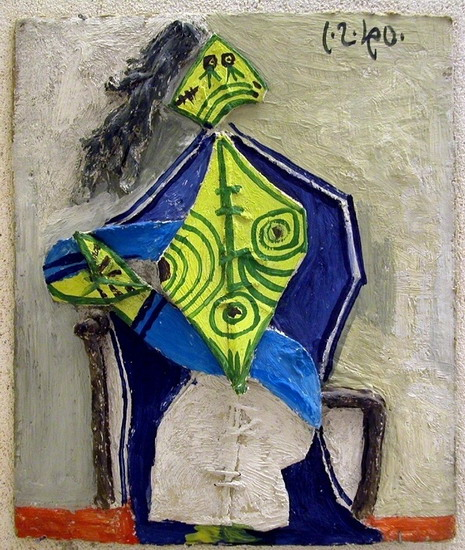 Pablo Picasso. Woman sitting in an armchair, 1940