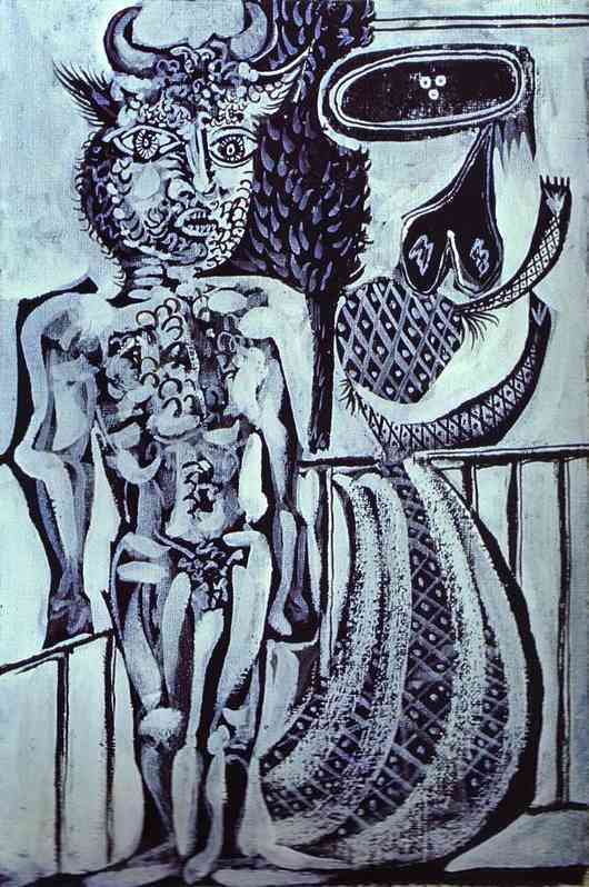 Pablo Picasso. Minotaur and His Wife, 1937