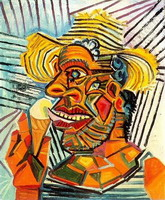 Pablo Picasso. Man with ice cream cone, 1938