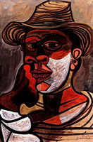 Pablo Picasso. Man in red glove, 1938