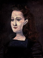 Woman with blue collar (Portrait d`Inez)
