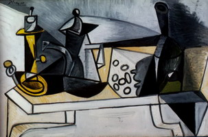 Pablo Picasso. Still Life with gruyere, 1943