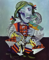 Pablo Picasso. Maya, Picassos Daughter with a Doll, 1938