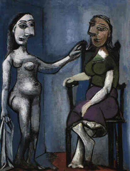 Pablo Picasso. Naked woman sitting and standing, 1939