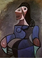 Pablo Picasso. Woman in Blue, 1944