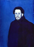 Pablo Picasso. Self-Portrait in Blue Period, 1901