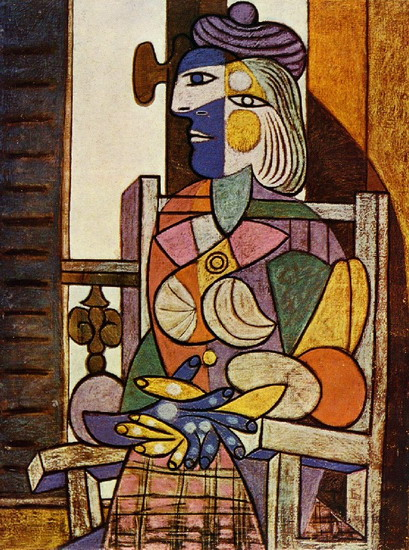 Pablo picasso woman sitting at the window marie therese for Poster devant la fenetre je guette