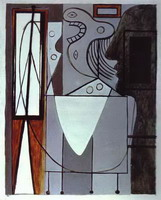 Silhouette of Picasso and Young Girl Crying