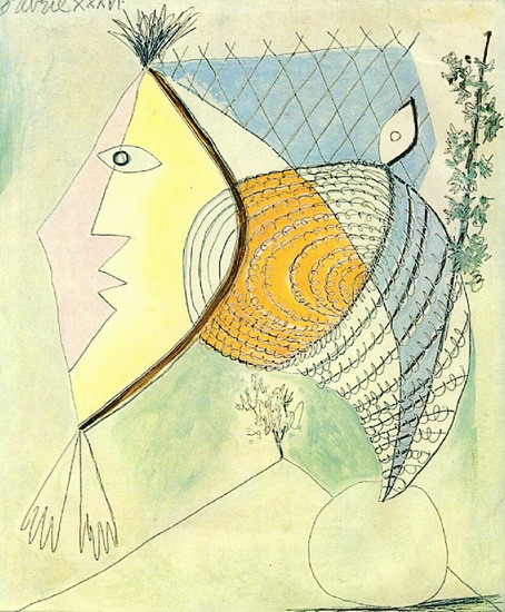Pablo Picasso. Character seashell [Head of a Woman], 1936