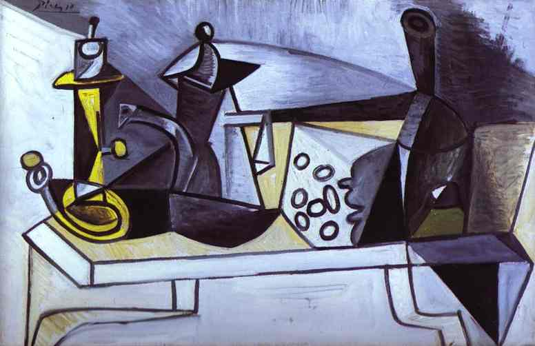 Pablo Picasso Still Life With Cheese 1944