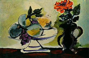 Pablo Picasso. Still Life with Fruit Dish, 1943