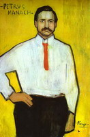 Pablo Picasso. Portrait of the Art Dealer Pedro Manach, 1901