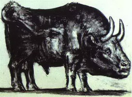 Pablo Picasso. The Bull. State II, 1945