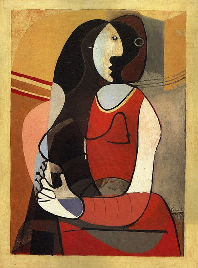 Pablo Picasso. Seated Woman, 1937