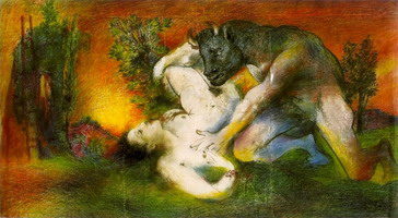 Composition (Minotaur and woman) 1