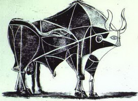 Pablo Picasso. The Bull. State V, 1945